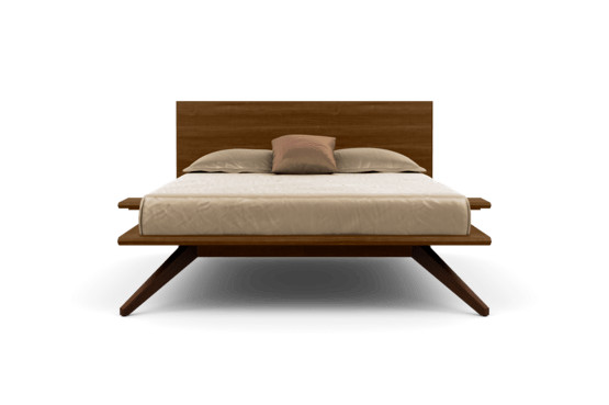 Copeland Furniture Natural Hardwood Furniture From Vermont Astrid Bed With 1 Adjustable Headboard Panel In Walnut And Dark Chocolate Maple Beds Bedroom