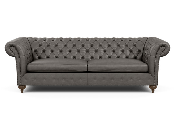 Mansfield Leather Grand Sofa Ethan Allen