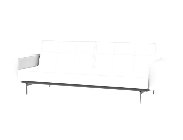 Splitback Chrome Sofa Bed With Armrest