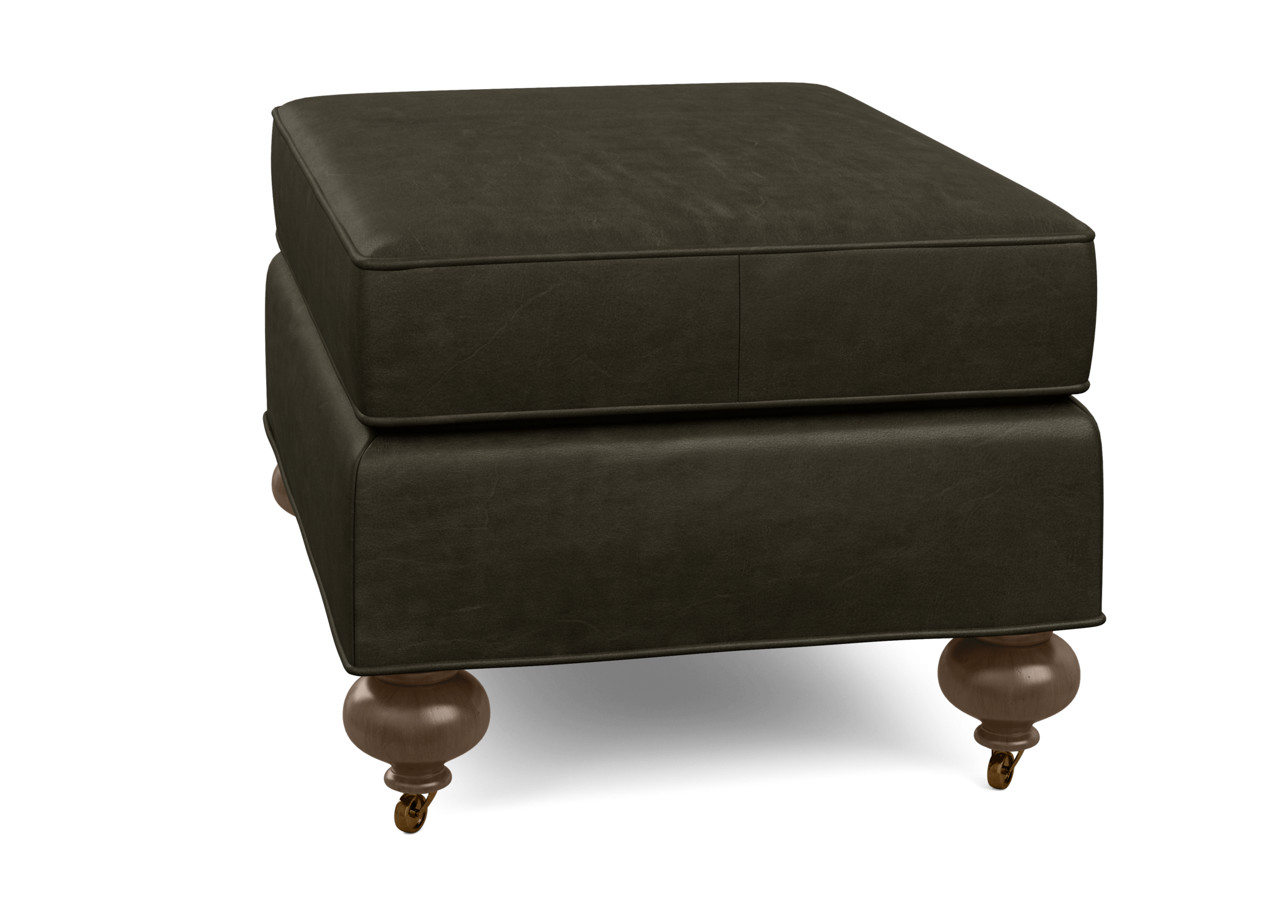 Oxford Leather Ottoman Ottomans Benches Ethan Allen