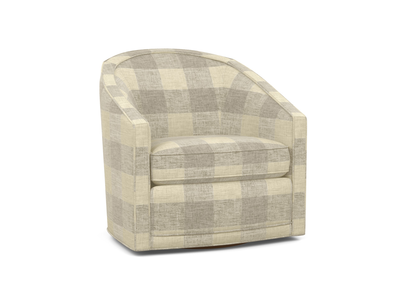 Baylee Barrel Back Swivel Chair Upholstered Ethan Allen