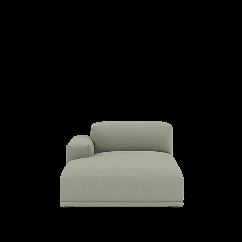 Divina Melange 147/Black - Left Armrest Lounge (J)