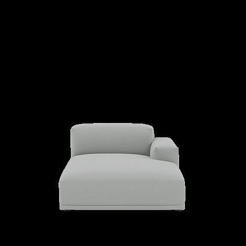 Canvas 124/Black - Right Armrest Lounge (K)