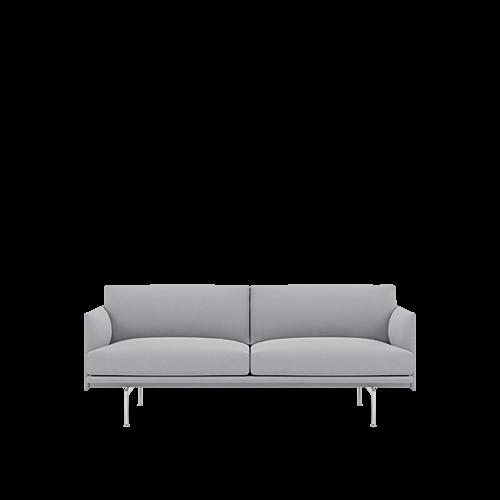Rime 131/Polished Aluminum - 2-Seater