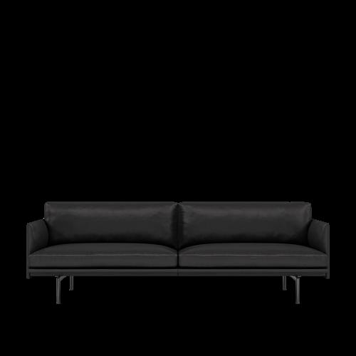Refine Leather Black/Black
