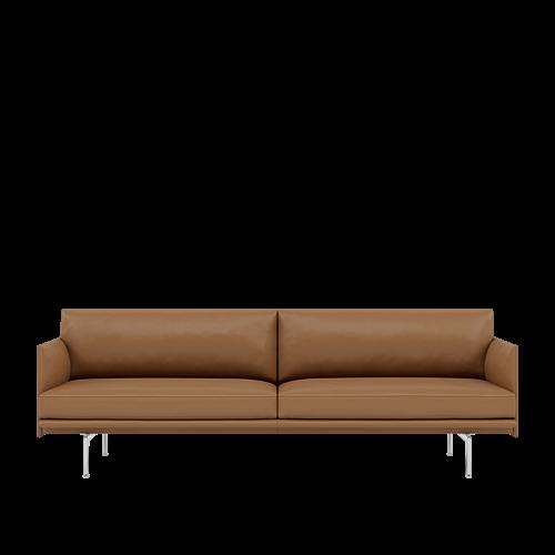 Refine Leather Cognac/Polished Aluminum