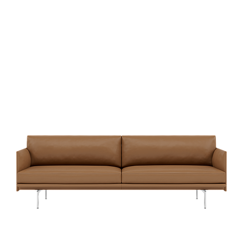 Refine Leather Cognac/Polished Aluminum