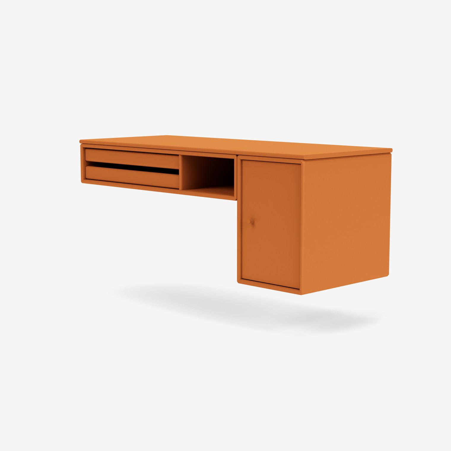 BUREAU Schreibtisch mit Tabletts und Schrank