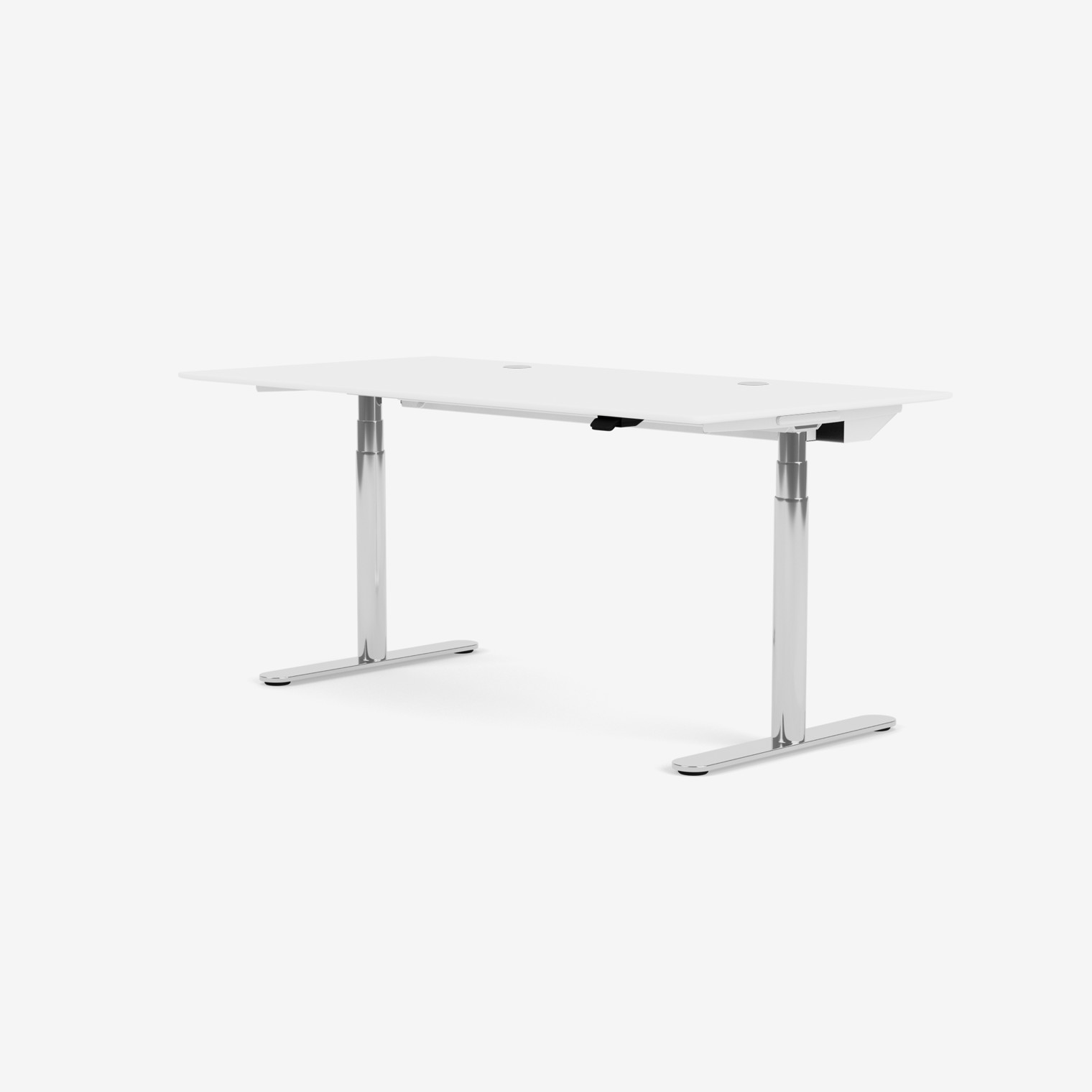 Height-adjustable work desk HILOW2160C - chrome frame
