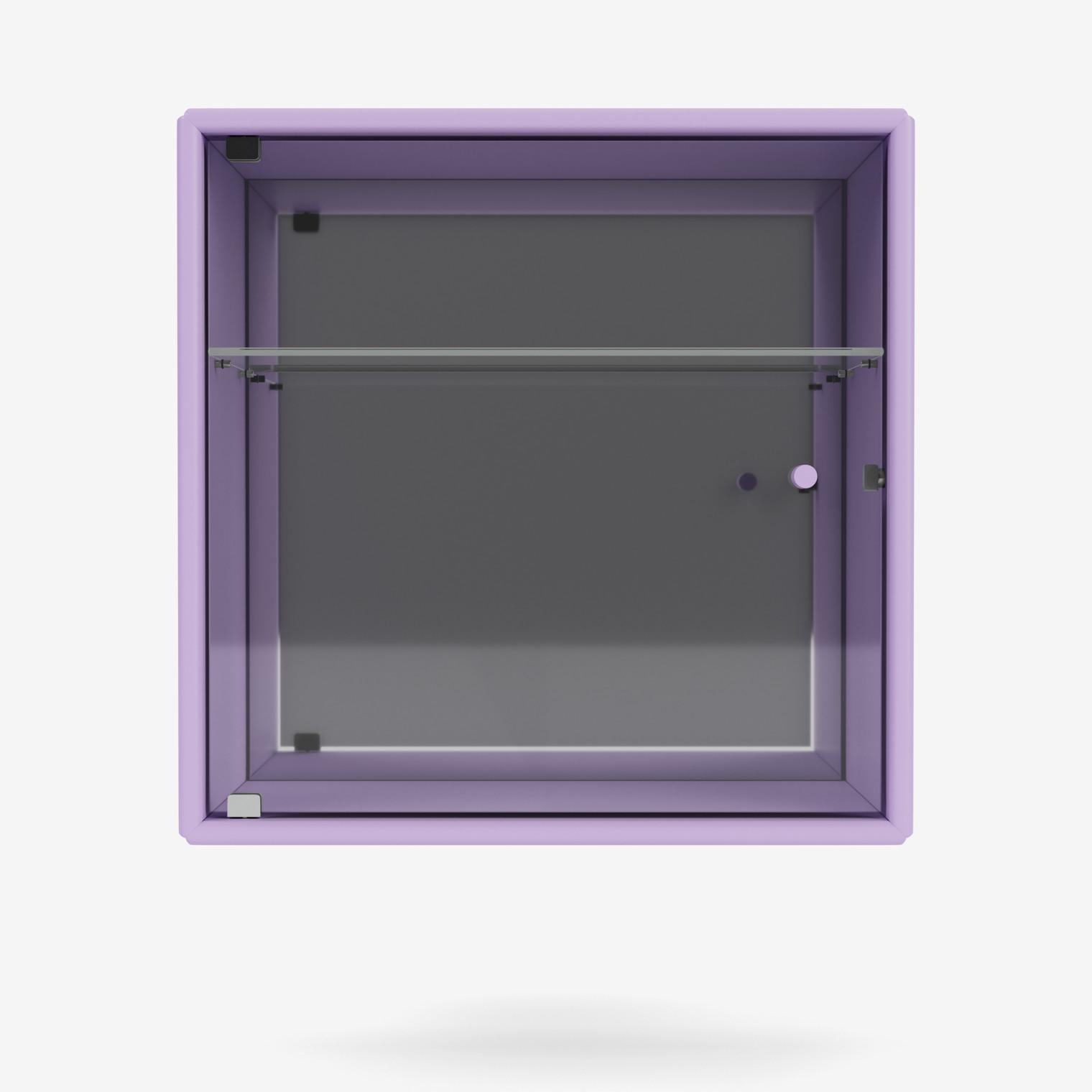 PERFUME cabinet with glass door