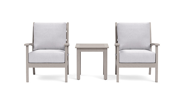 Yardbird Eden Outdoor Bistro Set with Fixed Chairs Outdoor Furniture