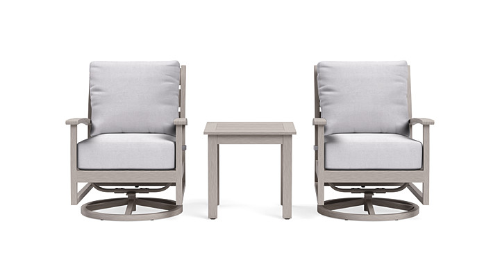 Yardbird Eden Outdoor Bistro Set with Swivel Rocking Chairs Outdoor Furniture
