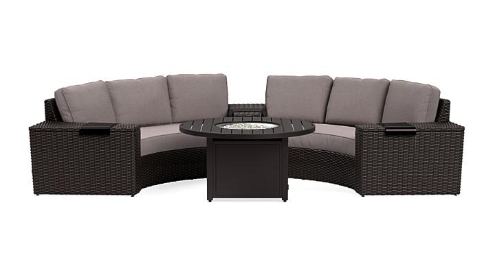 Yardbird Elliot Outdoor 6-Piece Fire Table Set Outdoor Furniture