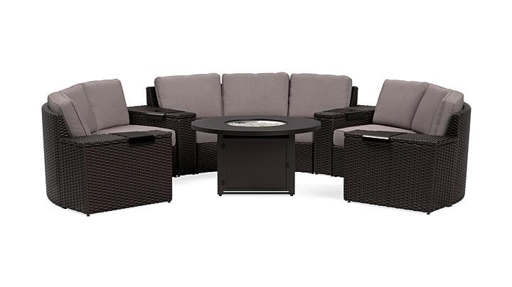 Yardbird Elliot 8-Piece Fire Pit Table Set Outdoor Furniture