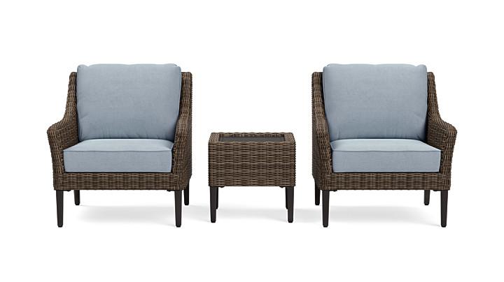 Yardbird Harriet Outdoor Bistro Set with Fixed Chairs Outdoor Furniture
