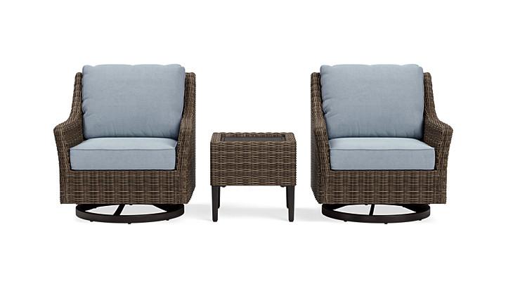 Yardbird Harriet Outdoor Bistro Set with Swivel Glider Chairs Outdoor Furniture