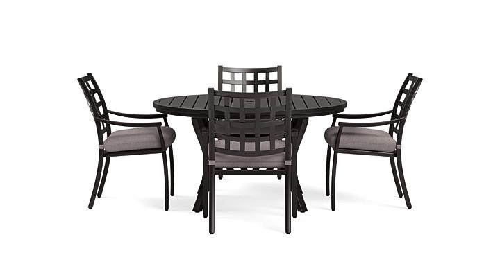 Yardbird Lily 5 Piece Circular Outdoor Dining Set Outdoor Furniture