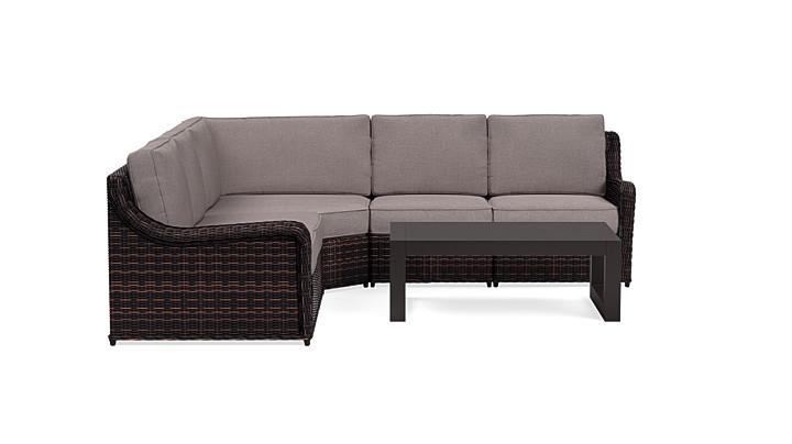 Yardbird Waverly Outdoor Large Sectional Set Outdoor Furniture