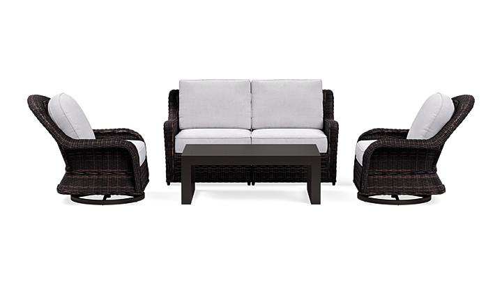 Yardbird Waverly Outdoor Loveseat Set with Swivel Chairs Outdoor Furniture