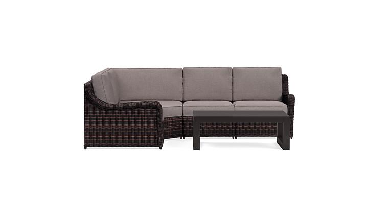 Yardbird Waverly Outdoor Small Sectional Set Outdoor Furniture