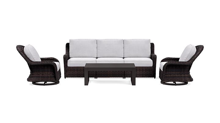 Yardbird Waverly Outdoor Sofa Set with Swivel Chairs Outdoor Furniture